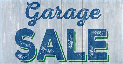 GARAGE SALE EVENT!