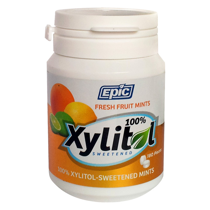 Epic Xylitol Mints - Fresh Fruit - 180 pieces