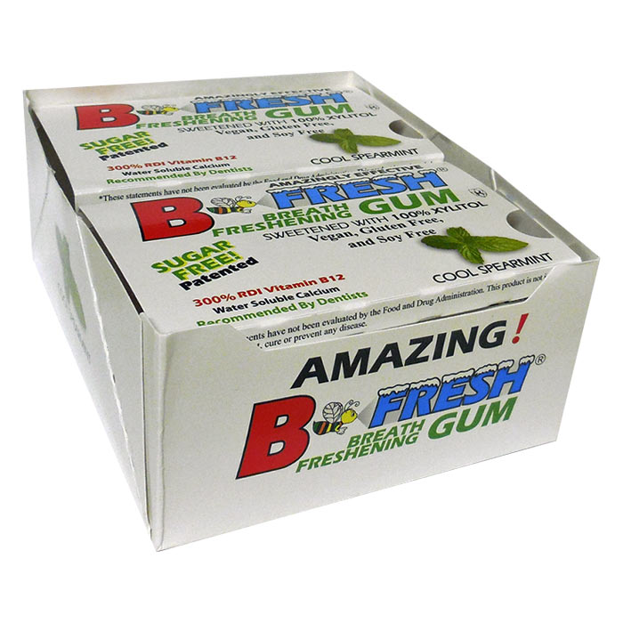 B-Fresh Xylitol Gum - Spearmint - 144 piece box - Made in the USA