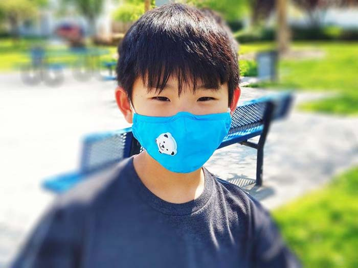 Black Ice Face Mask - Vented - Child