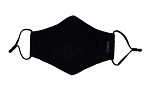 Black Ice Adult Face Mask w/ Filter Pocket Plus 2 Charcoal Filters - No Vent