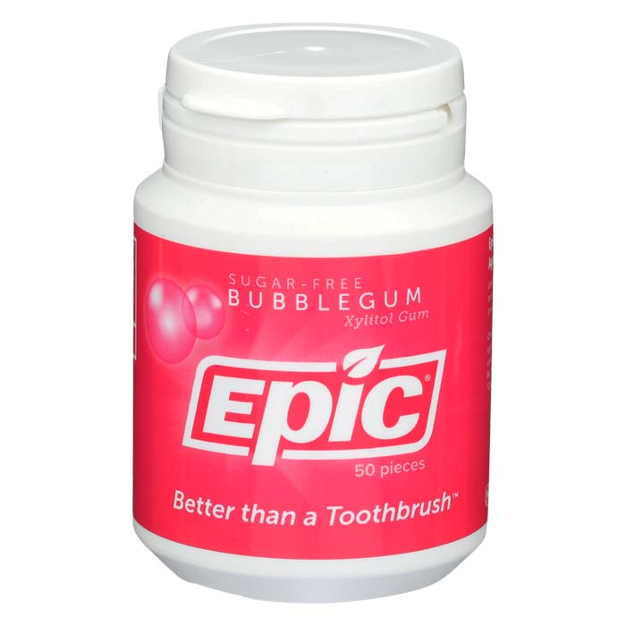Epic Xylitol Gum - Bubble Gum - 50 piece jar
