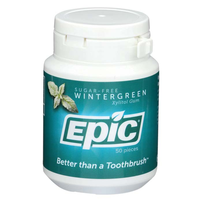 Epic Xylitol Gum - Wintergreen - 50 piece jar