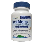 OraCoat XyliMelts for Dry Mouth - SENSITIVE MOUTH (MINT FREE) - 120-disc Bottle - Made in the USA