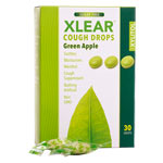 Xlear Sugar-Free Cough Drops, Green Apple - 30 ct.