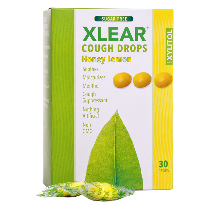 Xlear Sugar-Free Cough Drops, Honey Lemon - 30 ct.