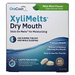 OraCoat XyliMelts for Dry Mouth - MILD MINT - 40 Discs - Made in the USA