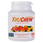 Xylichew Xylitol Gum - Fruit - 60 pc. jar - Made in the USA