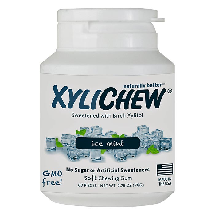 Xylichew Xylitol Gum - Ice Mint - 60 pc. jar