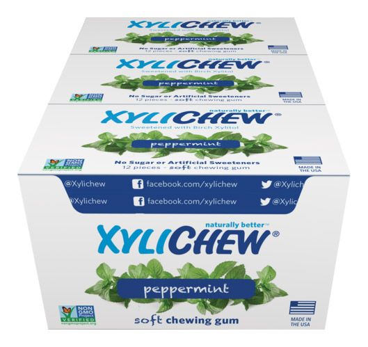 Xylichew Xylitol Gum - Peppermint - 288-piece box - Made in the USA