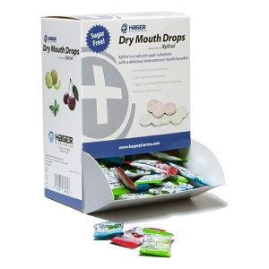 Hager Xylitol Dry Mouth Drops - Sample Box - 156 pieces