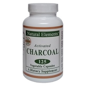 Natural Elements Activated Charcoal - 125 vegtbl caps