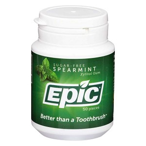 Epic Xylitol Gum - Spearmint - 50 piece jar