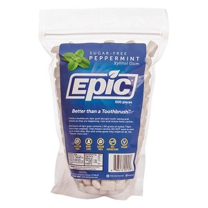 Epic Xylitol GUM - Peppermint - 500 piece bag
