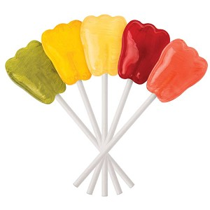 Dr. John's Healthy Sweets Lollipops - Fresh Fruits - Tooth Shaped - 2.5 lb. - Made in the USA