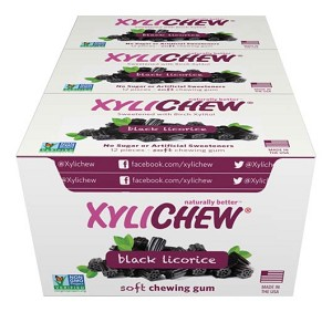Xylichew Xylitol Gum - Licorice - 288-piece box - Made in the USA
